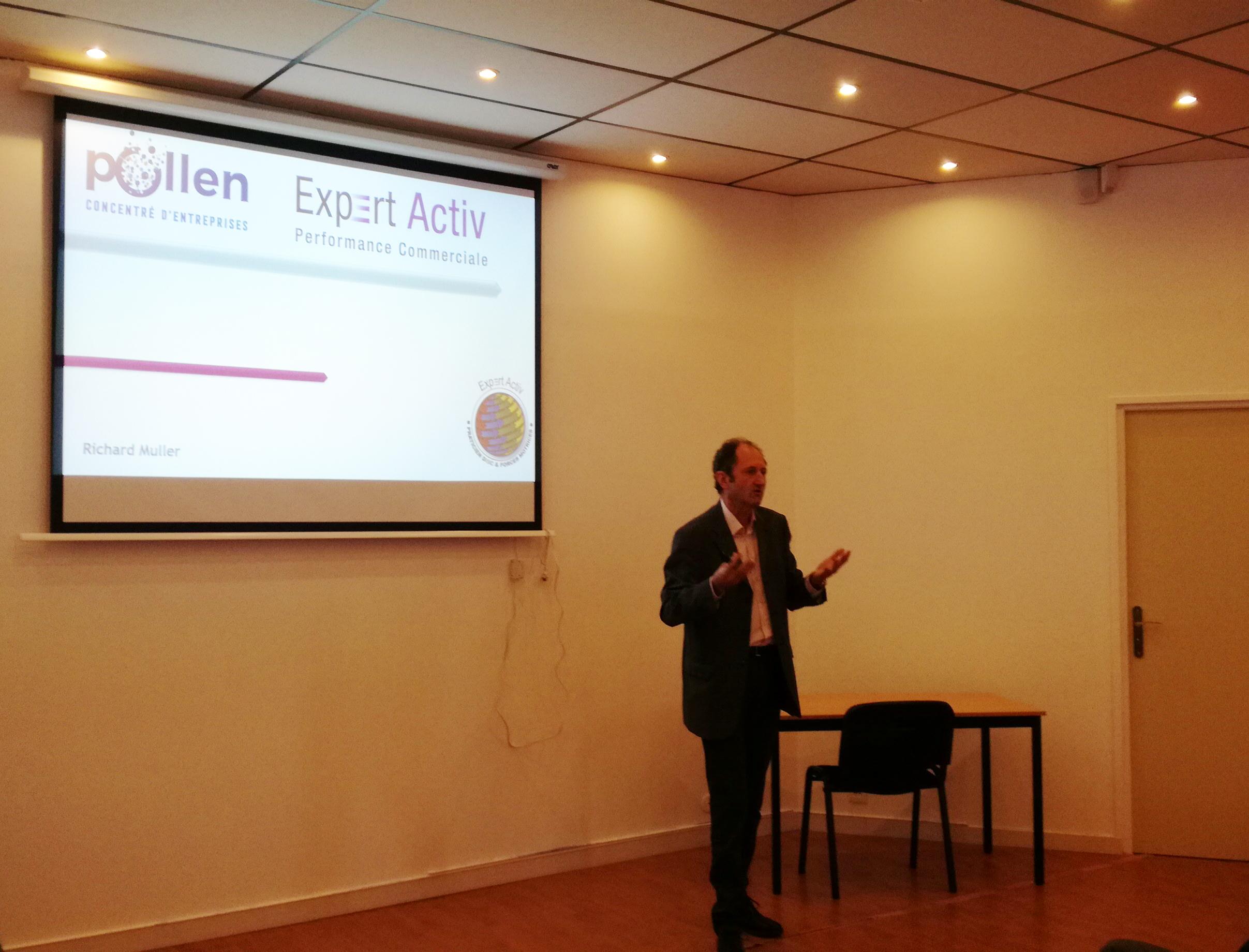 Formation des membres Pollen sur le développement commercial assurée par Richard Muller de Expert Activ