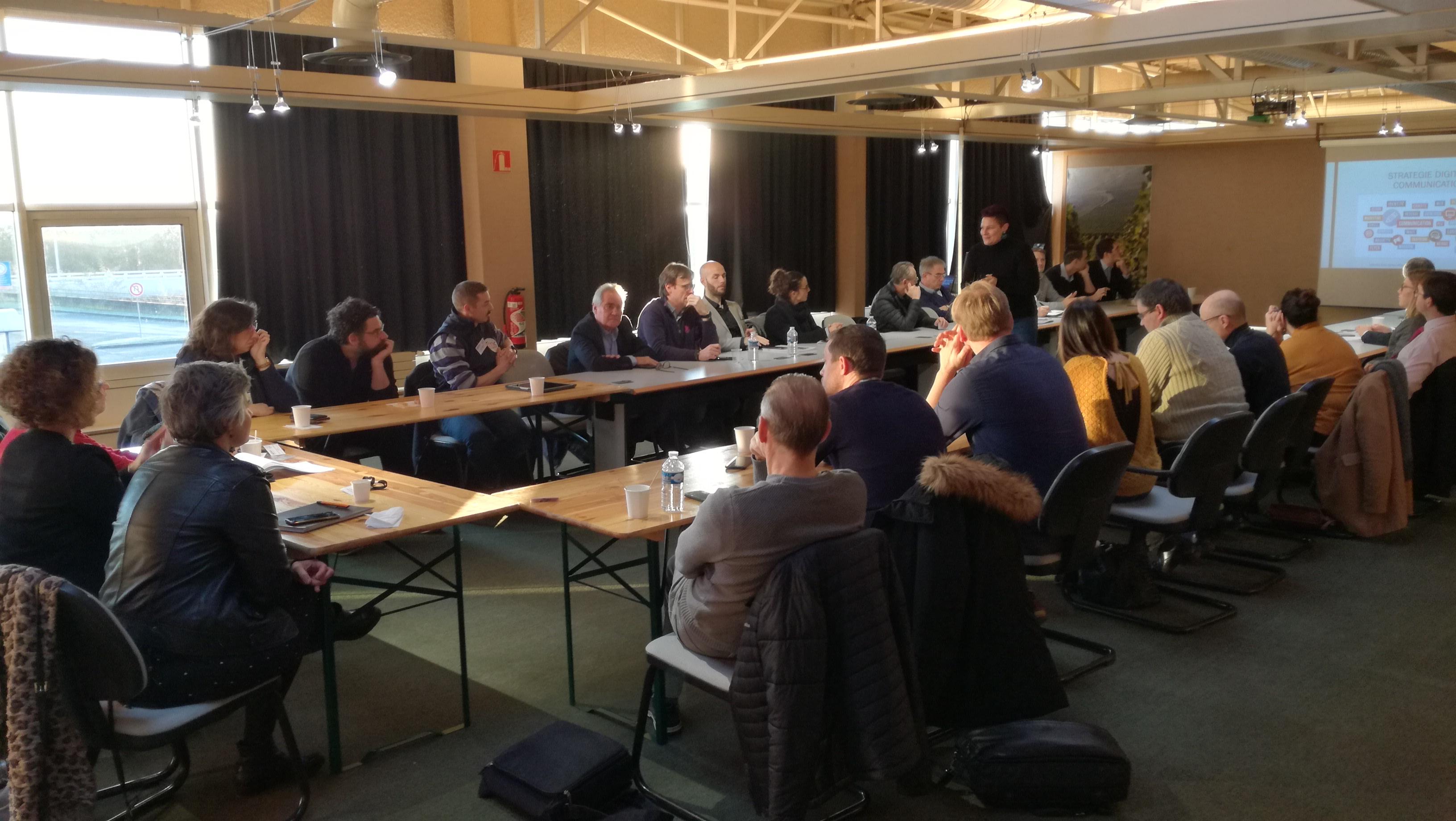 Rencontre avec les membres du réseau de chefs d'entreprises Pollen
