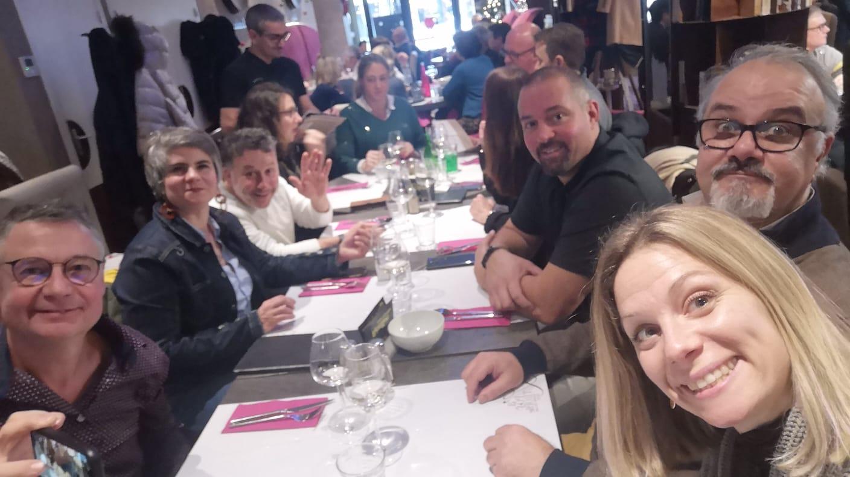 Déjeuner avec les membres du réseau de chefs d'entreprises de Reims à l'Apostrophe